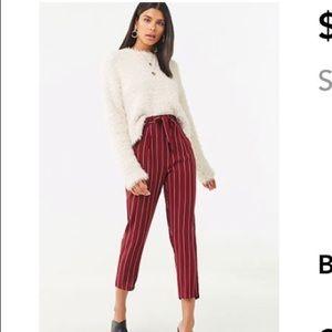 Forever21 Striped Paperbag Pants
